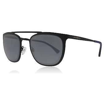 Emporio Armani EA2069 301455 Matte Black EA2069 Square Sunglasses Lens Category 3 Lens Mirrored Size 54mm