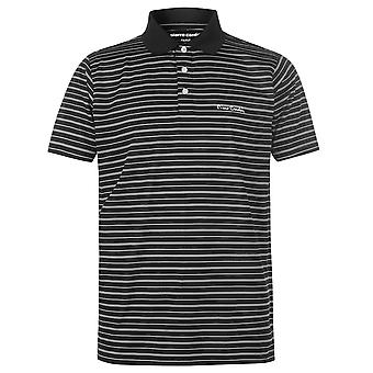 Pierre Cardin Mens Striped Poly Polo Shirt T T-Shirt Short Sleeve Top