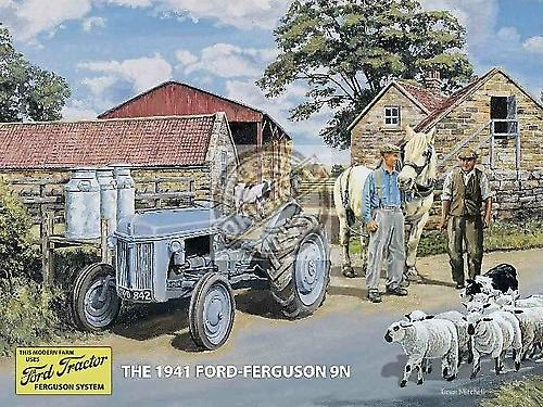 Ford Ferguson 9N metal sign  (og 2015)