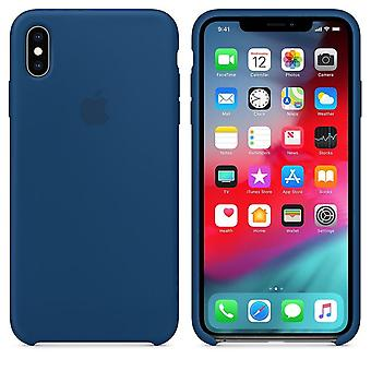 Confezione originale in silicone Apple Micro fibra cover custodia per iPhone Max XS - orizzonte blu