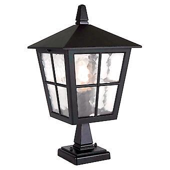 Canterbury nero piedistallo Outdoor Lanterna - Elstead illuminazione Bl50M nero
