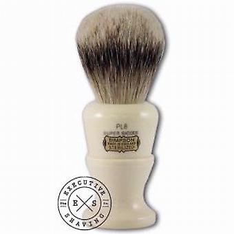 Simpsons Polo 8 Super Badger Hair Shaving Brush in Imitation Ivory