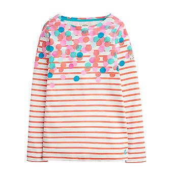 Joules Junior Harbour Jersey Top Pink Spot Cascade