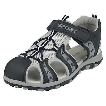 Boys JCDees Sandals N0040 Grey / Navy Size 7