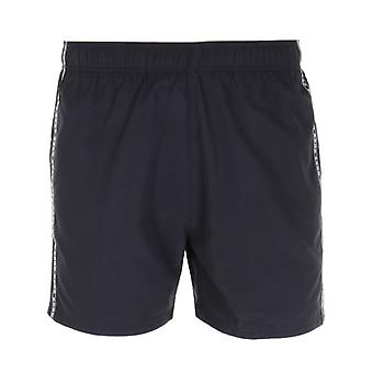 HUGO Logo Taping Black Swim Shorts