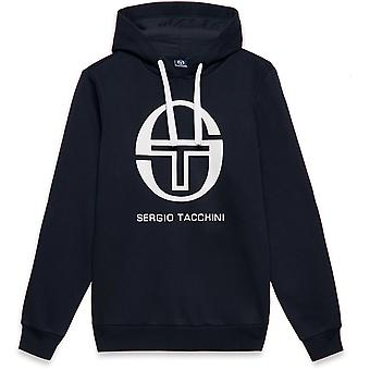 Sergio Tacchini Comma Hoodie Blue Navy/White 43