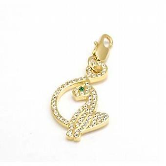 Baby Phat Gold Plated Base Metal Crystal Set Charm on Trigger