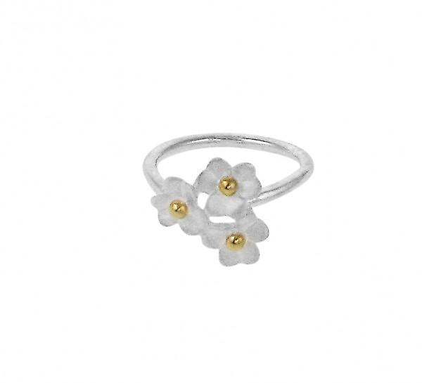 Cavendish French Silver daisy cluster ring