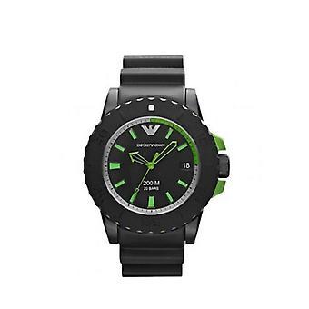 Emporio Armani Ar6102 reloj de hombre verde de aluminio y caucho