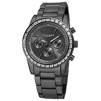 Akribos XXIV Women's Swiss Quartz Multifunction Swarovski Crystal Bracelet Watch AK943GN