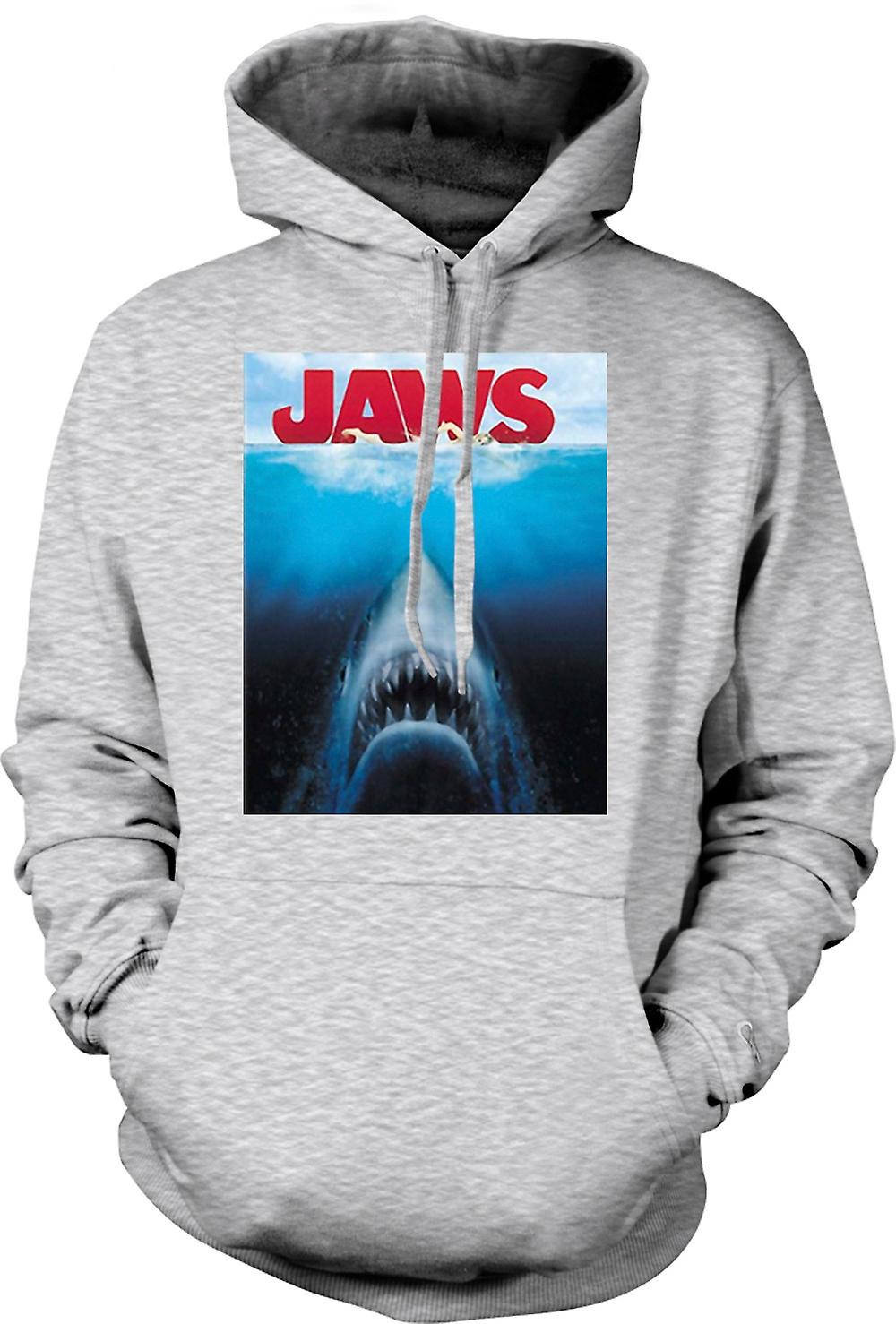 Mens Hoodie - Jaws Great White Shark - Movie