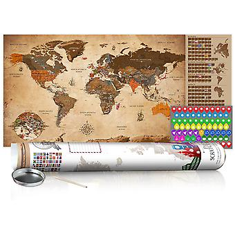 Mapa de raspar - Vintage Map - Poster (English Edition)