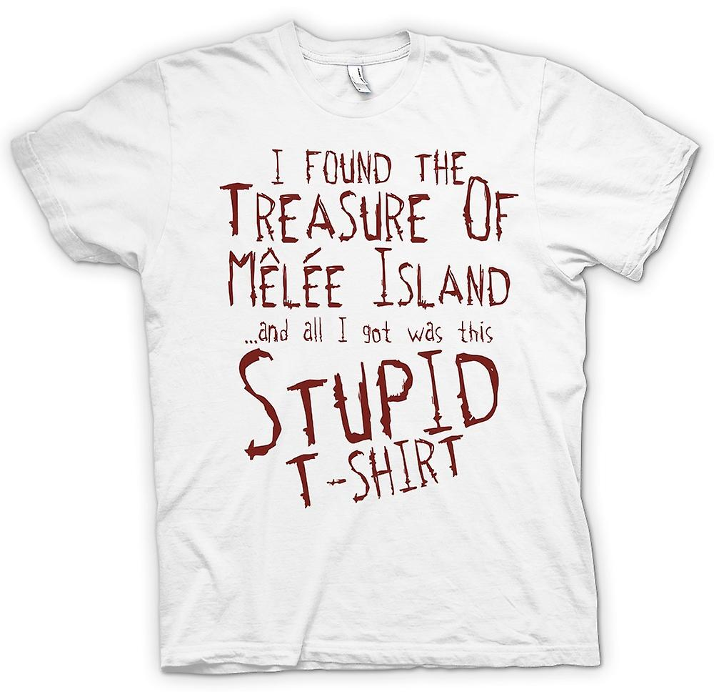 Womens T-shirt - I Found The Treasure Of Melee Island And All I Got Was This