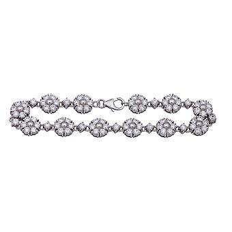 Bracelet 19 Cm Flower Zirc