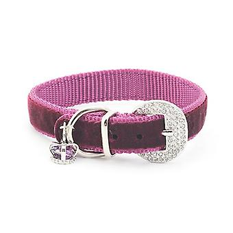 Purple Small Bite Crown Jewel Dog Collar - X Small