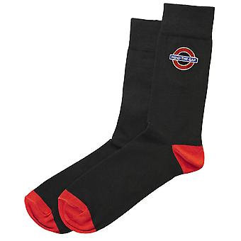 Tfl™6307 ladies licensed mind the gap roundel™ embroidery sock size 4-7