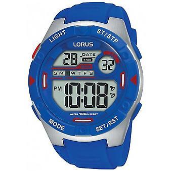 Proprietà Lorus . Sport Uomo Digitale Strap in gomma blu Orologio R2301NX9