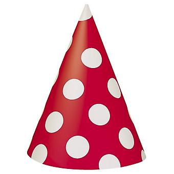 Unique Party Polka Dot Party Hats (Pack Of 8)
