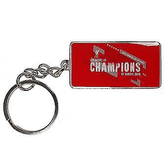 Liverpool FC Champions of Europe 2019 metal / enamel keyring (bst)
