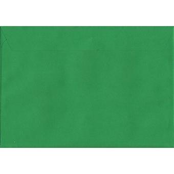 Holly Green Peel/sceau C6/A6 enveloppes colorées de vert. Papier certifié FSC de luxe de 120 g/m². 114 mm x 162 mm. enveloppe de Style portefeuille.