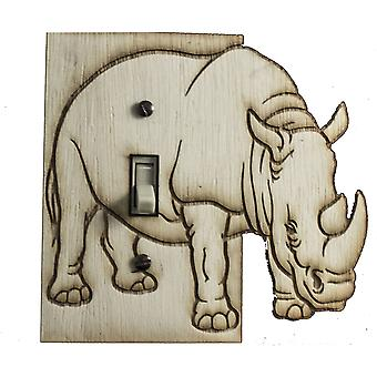 Rhino switch plate - raw wood - 5.2