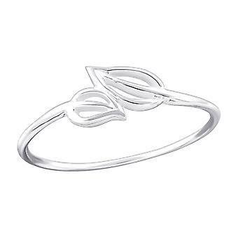 Leaf - 925 Sterling Silver Plain Rings - W20317X