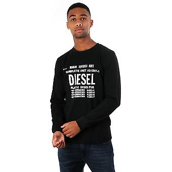 Diesel Diego B6 Long Sleeved T Shirt With Print