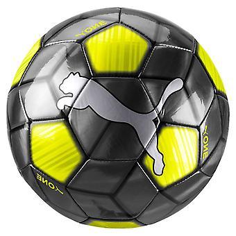 Puma One Strap Football Soccer Ball Black/Yellow Rush