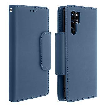 Magnetic Detachable Wallet Folio Case for Huawei P30 Pro - Dark Blue