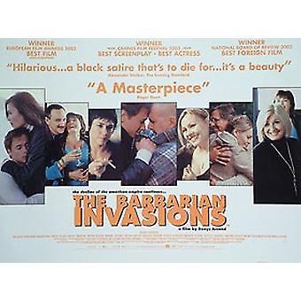 The Barbarian Invasions Original Cinema Poster