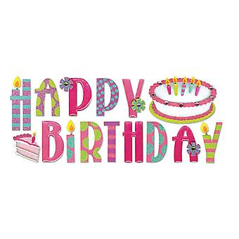 Jolee's Boutique Title Wave Stickers Happy Birthday Spjt 104