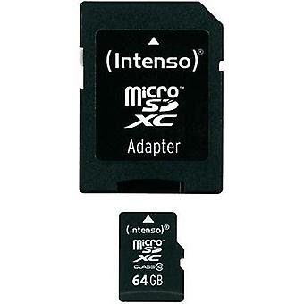 microSDXC card 64 GB Intenso Class 10 incl. SD adapter