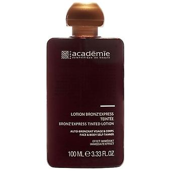 Académie bronz'express lotion car Bronzante Kanani tea 100 ml