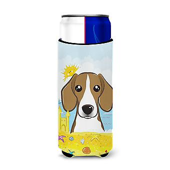 Beagle Summer Beach Michelob Ultra Koozies for slim cans BB2107MUK