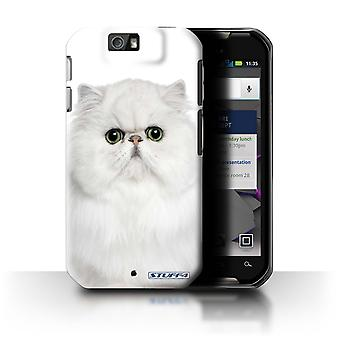 STUFF4 Case/Cover for Motorola IronRock/XT626/Persian White/Cat Breeds
