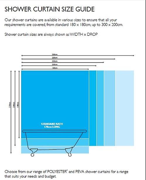 Azul textil rayas poliéster ducha cortina 180 x 180cm
