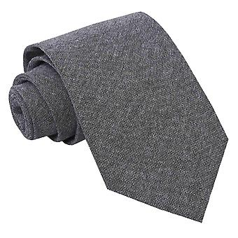 JA Chambray Cotton Charcoal Tie