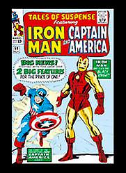 Iron Man & Captain America steel fridge magnet     (sd)