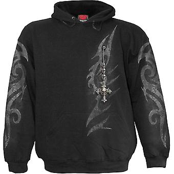 Spiral Direct Gothic TRIBAL CHAIN - Hoody Black|Tribal|Cross|Skulls|Fashion