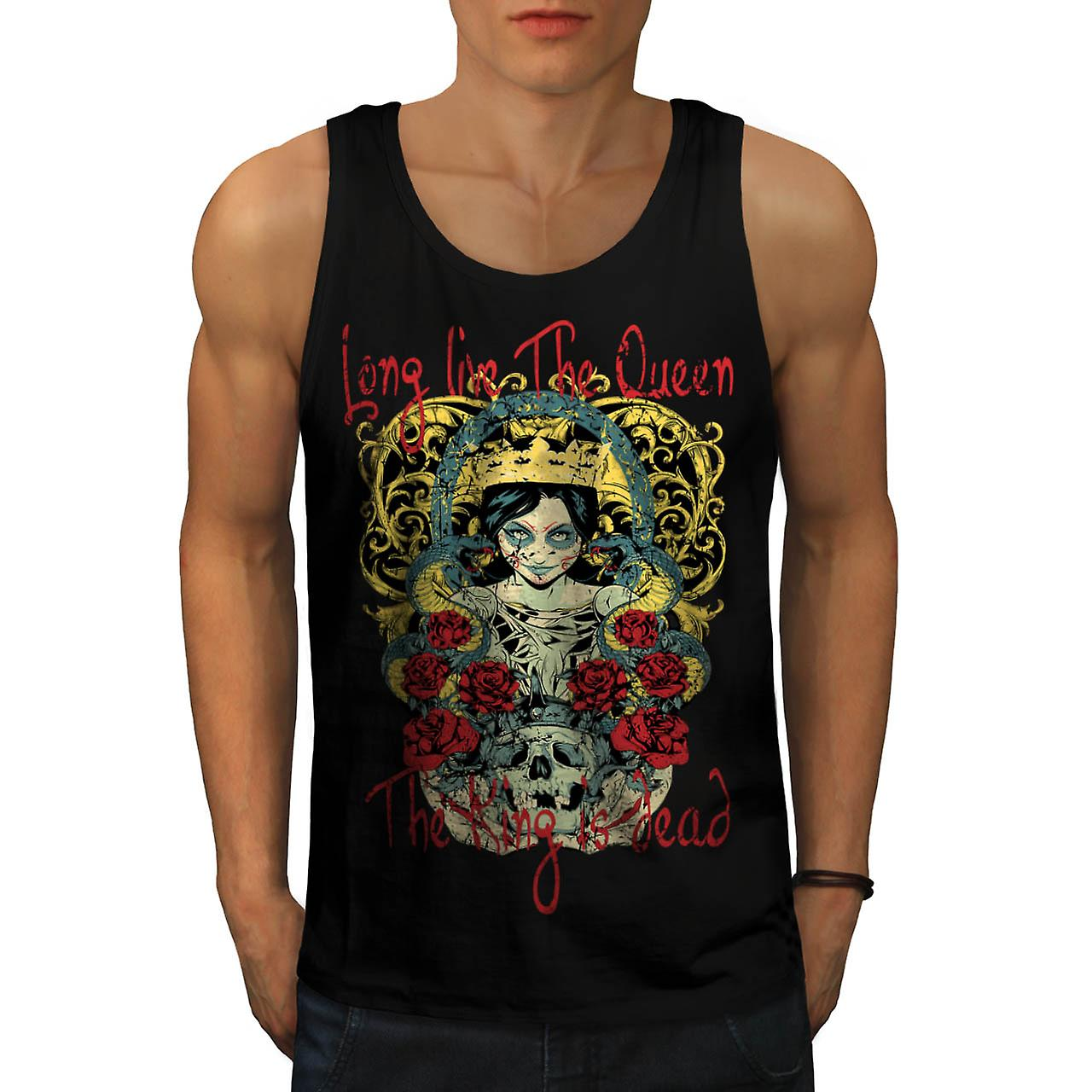 Live Queen King Dead Evil Dead Men Black Tank Top | Wellcoda