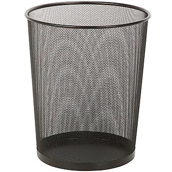 Mesh Metal Trash Basket 18l-Black TRS-TB-02102