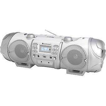 DAB+ Boombox SoundMaster AUX, Bluetooth, CD, DAB+, FM, USB White