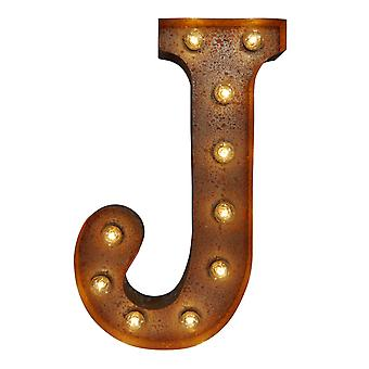 Large Vintage Letter Lights - J (60cm x 10cm)