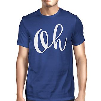 Oh Unisex Royal Blue Tops Short Sleeve Typographic T-shirt
