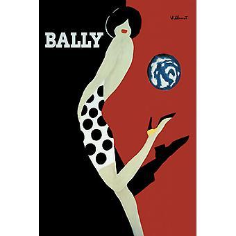 Bally konst Ad Art affisch affisch Skriv
