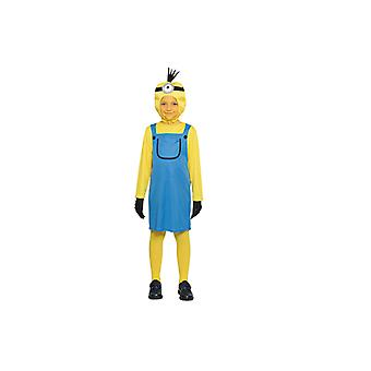 Yellow girl costume yellow dwarf one eye children
