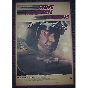 Sporting Display Steve McQueen French Film Poster