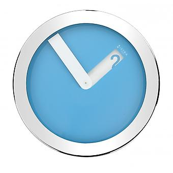 Istra London Stainless Steel Case Wall Clock - Blue - 30cm