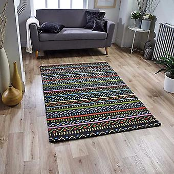 Jasper Tribal Charcoal  Rectangle Rugs Funky Rugs