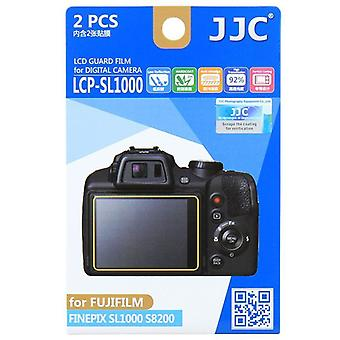 JJC Guard Film Crystal Clear Screen Protector for Fujifilm FinePix SL1000, S8200 - no cutting (2 Film Pack)